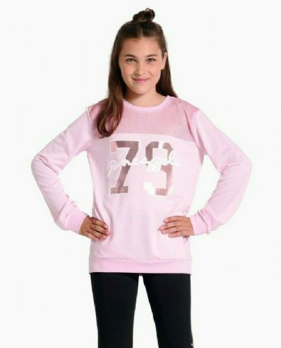 PINEAPPLE DANCEWEAR Girls Mesh Monster Sweater Long Sleeved Dance Jumper Pink